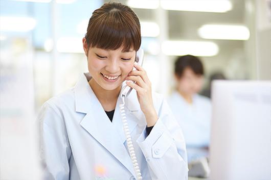 オンライン服薬指導 全国6000軒以上の医療機関との間でスムーズにご利用いただけます。